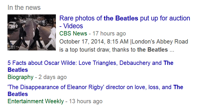 Google News box
