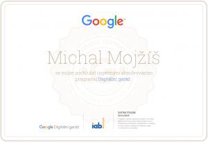 Certifikát Digitální garáž od Googlu