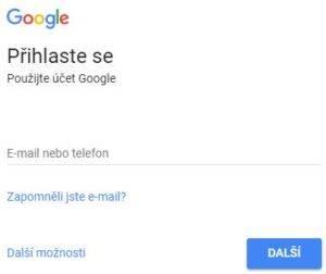 Přihlaste se do služby Google - netpromotion group s.r.o.
