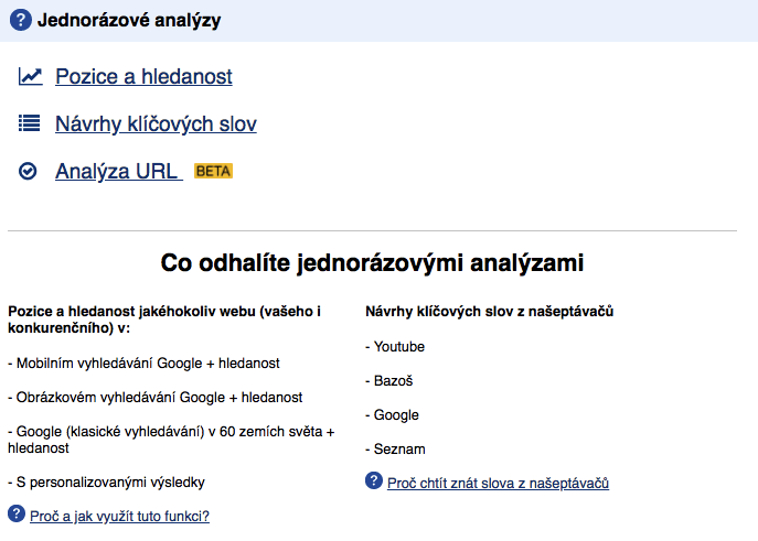Jednorázové analýzy v Collabimu - netpromotion group s.r.o.