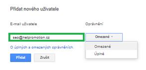 Přidání nového uživatele - netpromotion group s.r.o.