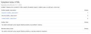 Vylepšení kódu v Search Consoli - netpromotion group s.r.o.