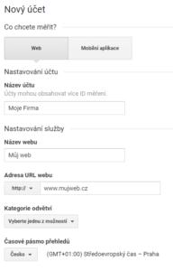 Vytvoření účtu Google Analytics - netpromotion group s.r.o.