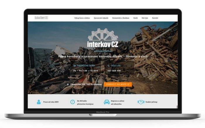 Ukázka jednostránkového webu Interkov - netpromotion group s.r.o.