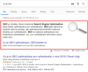 Featured Snippet - netpromotion group s.r.o.