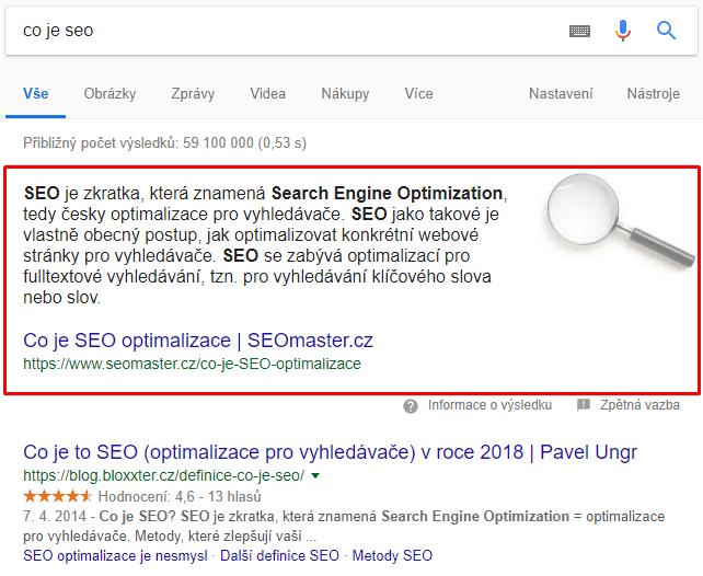 Vyhledávání dat slovo vyhledávání